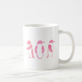Pink Penguin Trio Coffee Mug