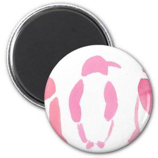 Pink Penguin Trio Magnet