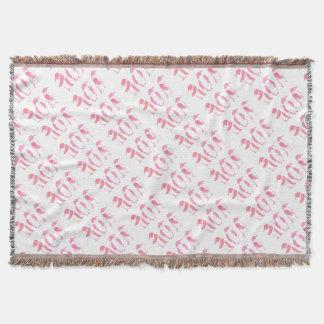 Pink Penguin Trio Throw Blanket
