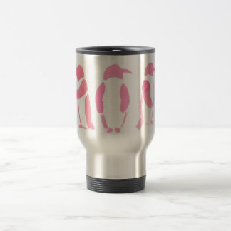 Pink Penguin Trio Travel Mug