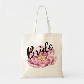 Pink Peonie - Bride Black Script