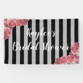 Pink Peonies Bridal Shower Floral Backdrop Banner