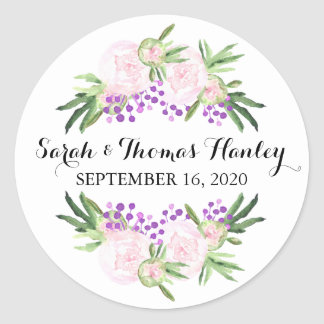 Pink Peonies I Floral Wedding Sticker