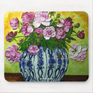 Pink Peonies in a Vase Mousepad