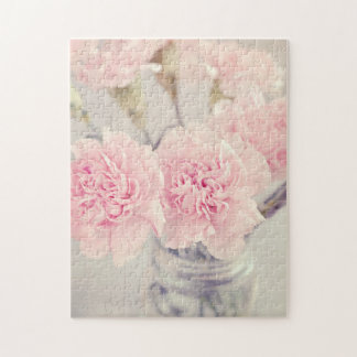 Pink Peonies in Glass Jar Jigsaw Puzzle