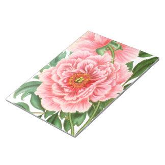 Pink Peonies Notepad