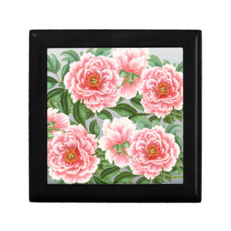 Pink Peonies On Grey Gift Box
