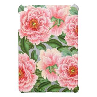 Pink Peonies On Grey iPad Mini Cover