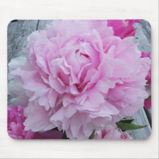Pink Peonies / Peony Flower Mouse Mat Mousepad