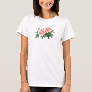 Pink peonies T shirt