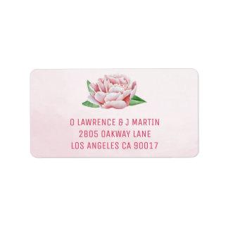 Pink Peony Address Labels