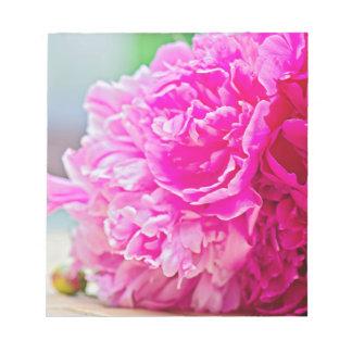 Pink peony beauty notepad