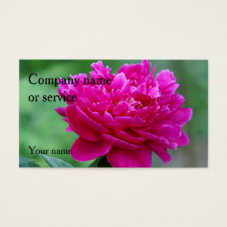 Pink Peony Business Card