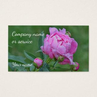 Pink Peony Business Card