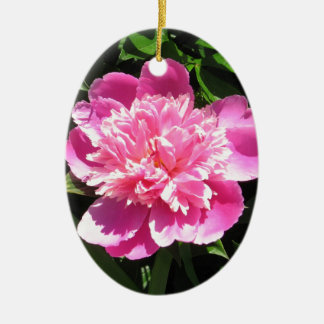 Pink Peony Ceramic Oval Decoration