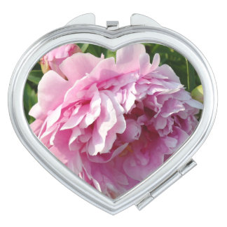 Pink Peony Compact Mirror
