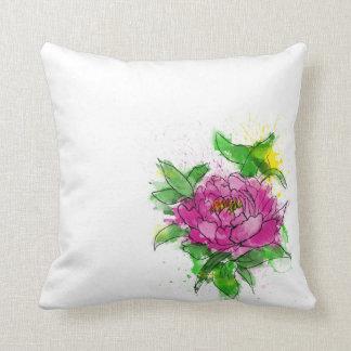 Pink Peony Cushion