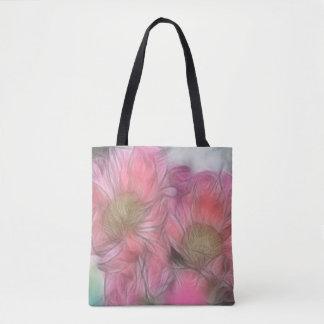 Pink Peony Duo Sketch Tote Bag