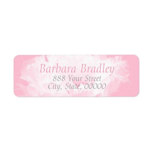 Pink Peony Floral Pattern 1 Return Address Return Address Label