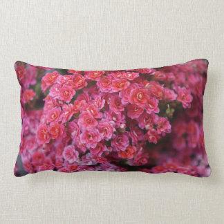Pink Peony Floral Pattern Print Lumbar Pillows