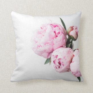 Pink Peony Flower Cushion