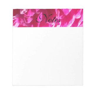 Pink Peony Flower Notepad