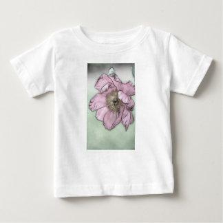 Pink Peony Flower Sketch Baby T-Shirt