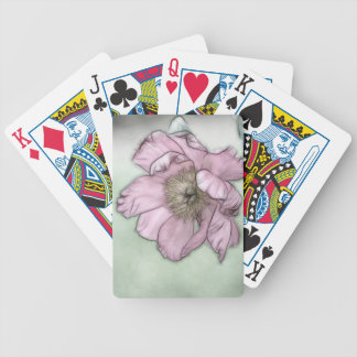 Pink Peony Flower Sketch Bicycle Playing Cards