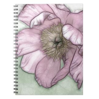Pink Peony Flower Sketch Notebook