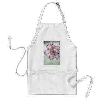 Pink Peony Flower Sketch Standard Apron
