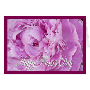 Happy nurses day flower gifts on zazzle au pink peony happy nurses day greeting card m4hsunfo Image collections
