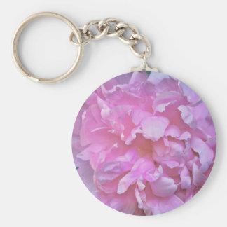 Pink Peony Key-chain Key Ring