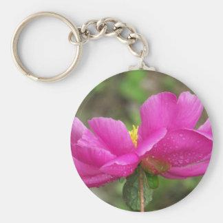 Pink Peony Key Ring