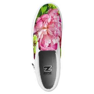 Pink Peony Shoes Printed Shoes