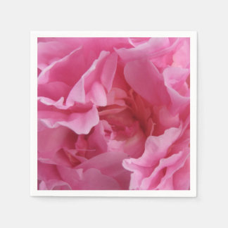 Pink Peony Standard Cocktail Napkins Disposable Serviette