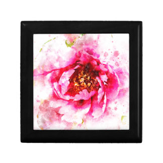 Pink Peony Watercolor Gift Box