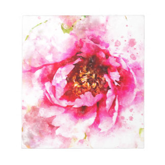 Pink Peony Watercolor Notepad