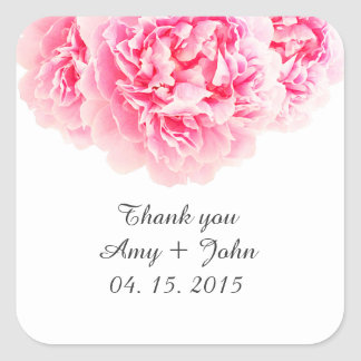 Pink peony wedding sticker tags peony3
