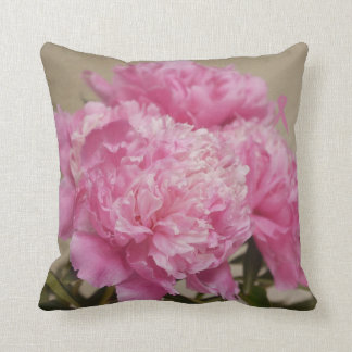Pink Peony with Pink Ribbon Pilow Cushion