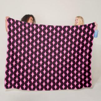 Pink Persian Diamond Princess Plush Pattern Fleece Blanket