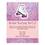 Pink Personalised Roller Skating Party Invitation