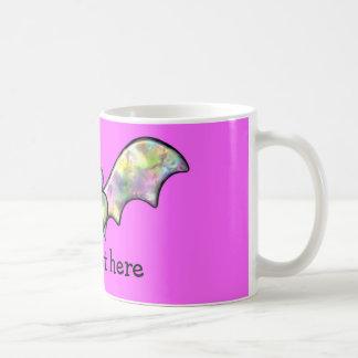 Pink Personalized Bat And Heart Mugs