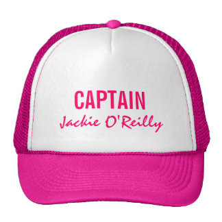 Pink Personalized Captain Cap