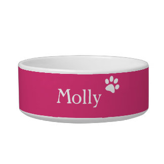 Pink  | Personalized Cat Dish Cat Bowl