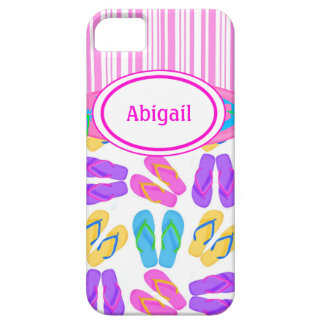 Pink Personalized Flip Flops iPhone 5 Case