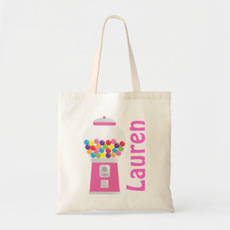 Pink Personalized Gumball Machine Bag