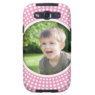 Pink personalized photo Samsung Galaxy case