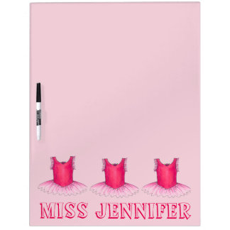 Pink Personalized Tutu Dance Teacher Ballet Gift Dry Erase Board