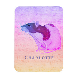 Pink Pet Rat Add Your Name Rat Magnet