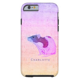 Pink Pet Rat Add Your Name Rat Tough iPhone 6 Case